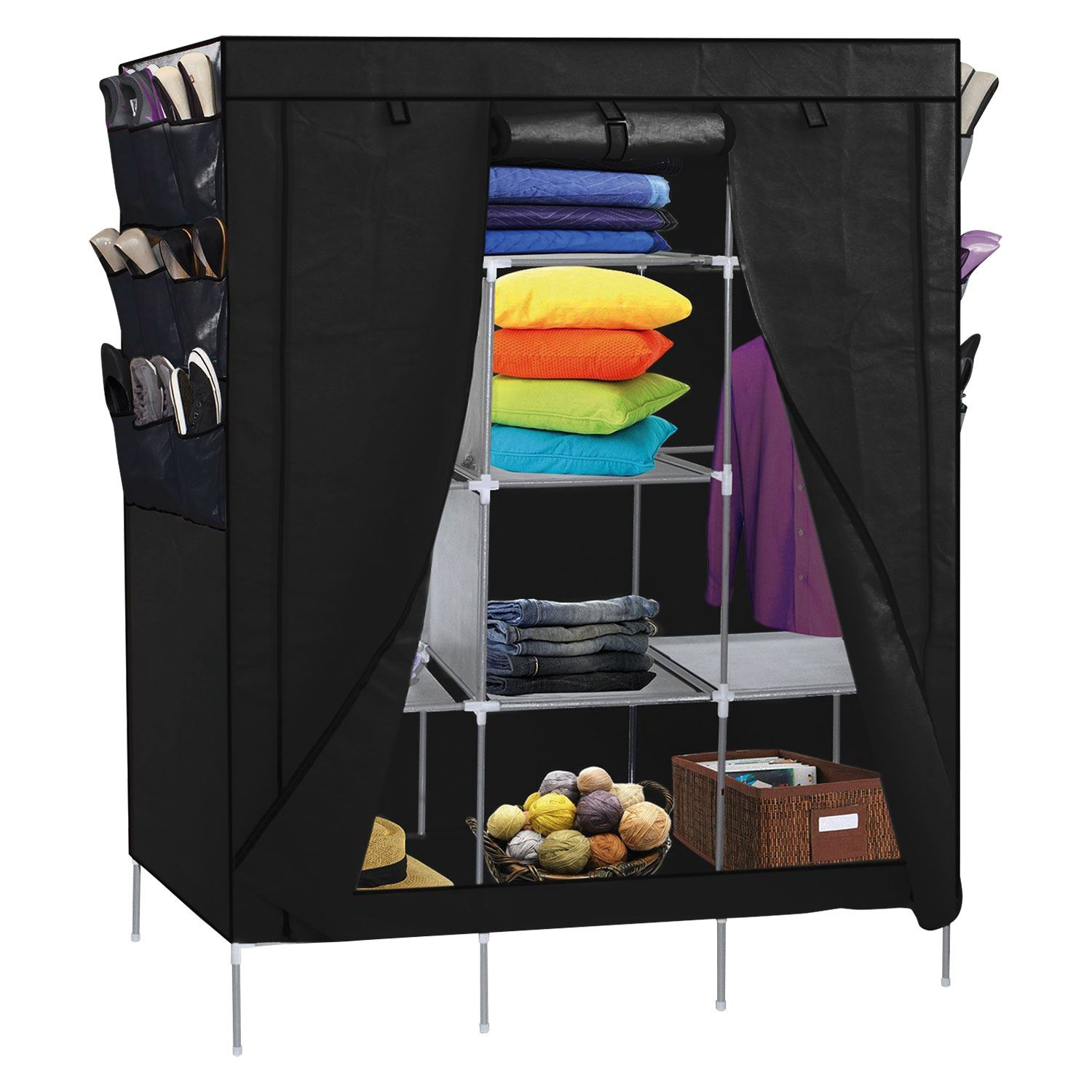 organizer full closets wardrobe with free also home storage rack standing portable outstanding design brown clothes teak closet of size target wood