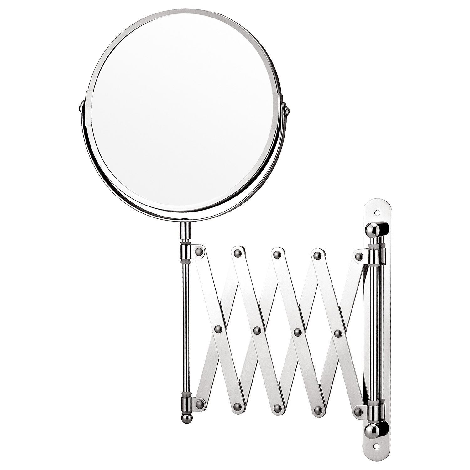 Wall Mounted Extending Folding Makeup Shaving Magnifying Chrome Bathroom Mirror Ebay