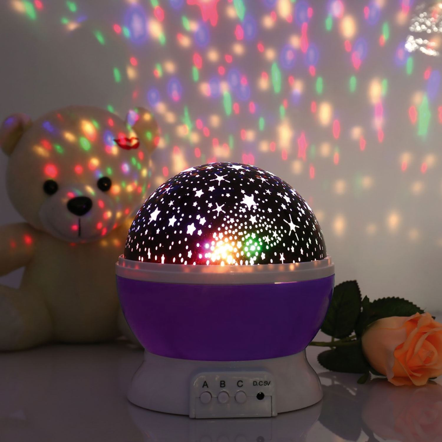 Kids Modern Childrens Room Led Star Moon Bedroom ...
