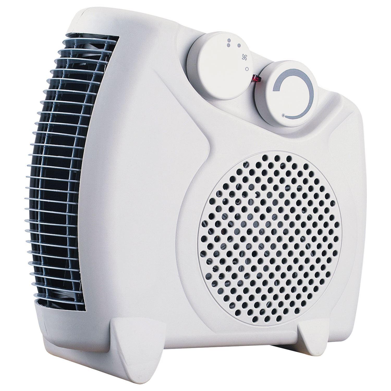 Flat Designer Thermostatic Electric Heating Heated: 2000w Electric Flat Upright Fan Heater 2 Heat Settings