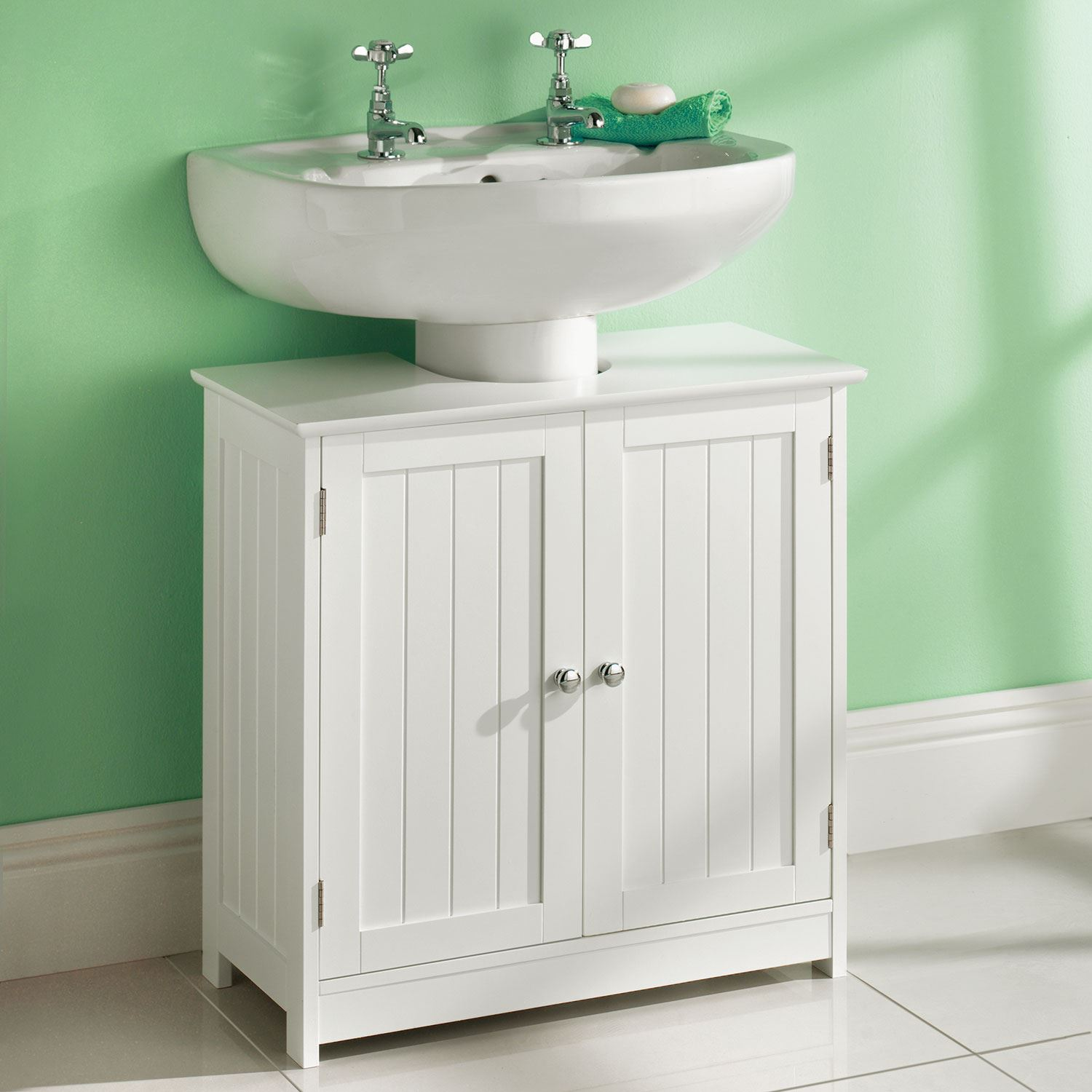 Luxury  About Venice Bathroom Cloakroom Gloss White Vanity Storage Units