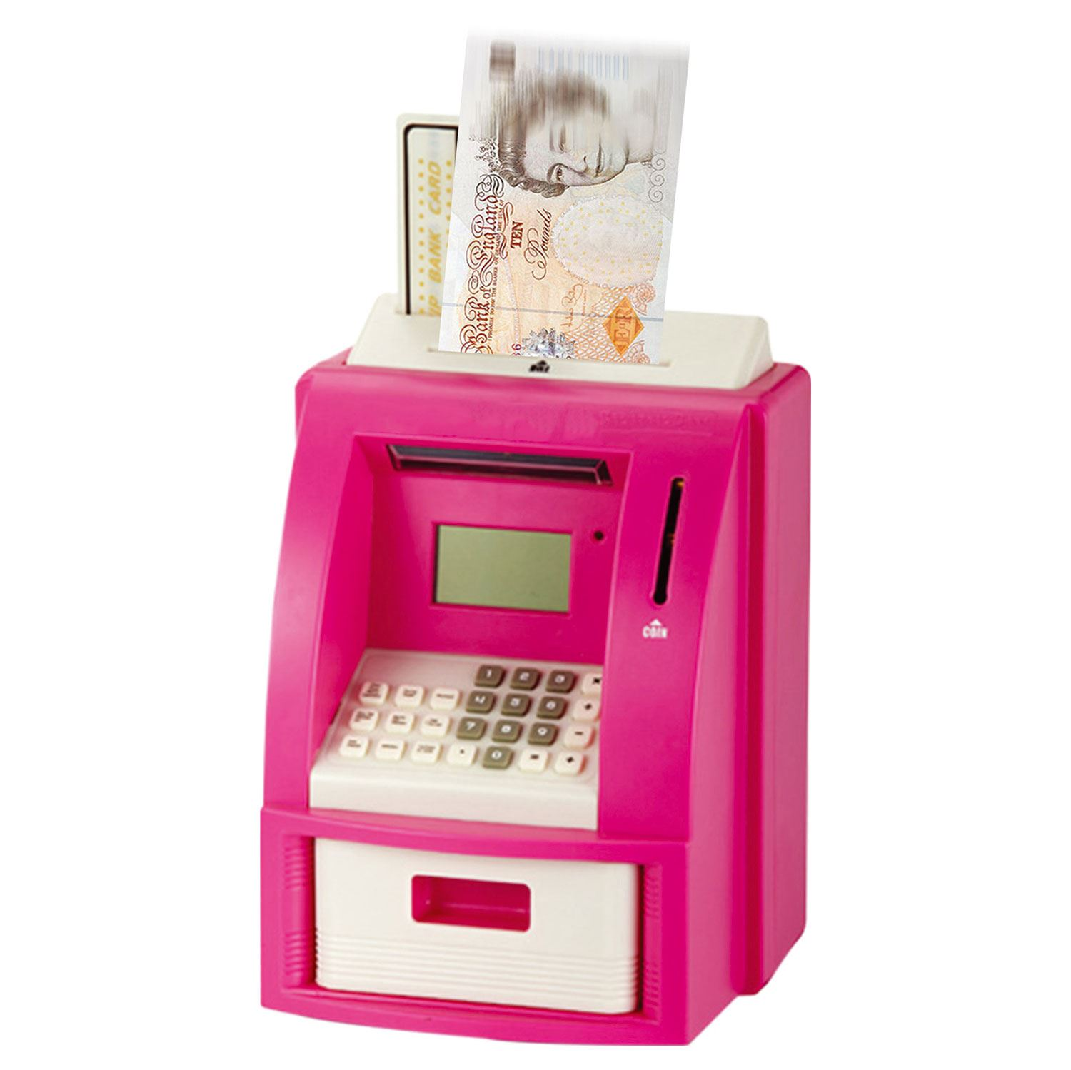 Digital coin counter lcd display jumbo jar sorter money box counts coins ebay - Coin sorting piggy bank ...