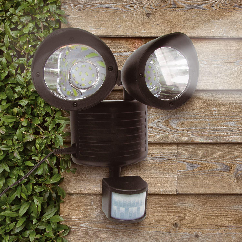 solar pir motion sensor security floodlight shed lamp. Black Bedroom Furniture Sets. Home Design Ideas