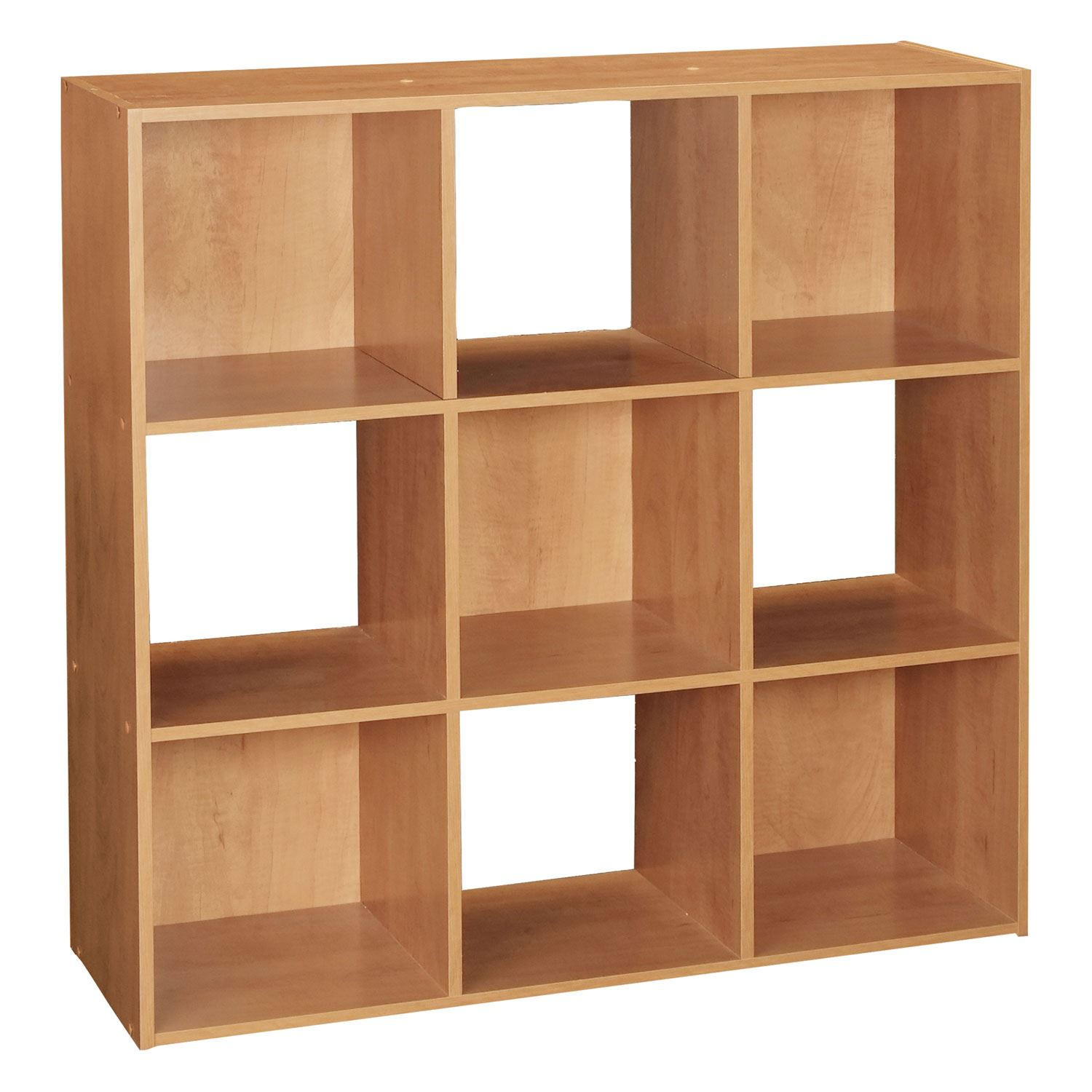 Wonderful image of Black/White/ Natural 3 Tier 9 Cube Wooden Bookcase Display Storage  with #501F0C color and 1500x1500 pixels