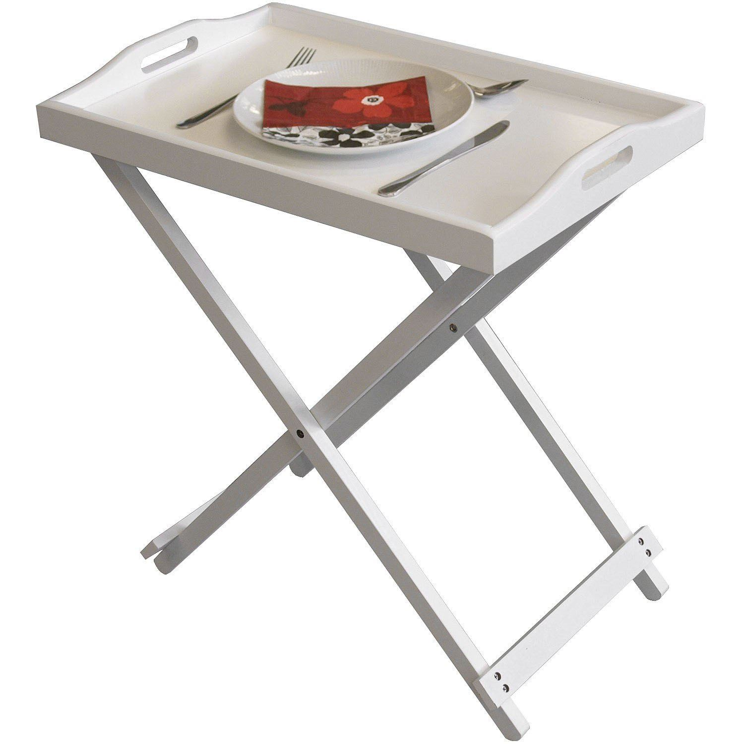 About New White Wooden Folding Butler Breakfast Laptop Tray Side Table. Full resolution‎  pic, nominally Width 1500 Height 1500 pixels, pic with #9E3A2D.
