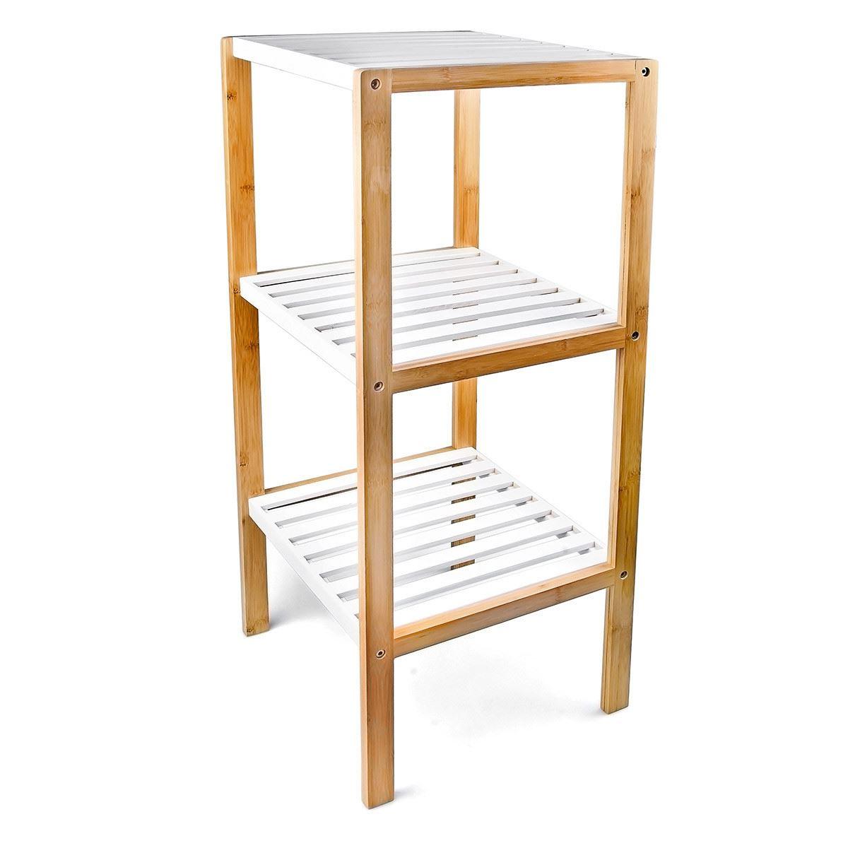 3/4 Tier Freestanding Bamboo Bathroom Storage Unit Shelf ...