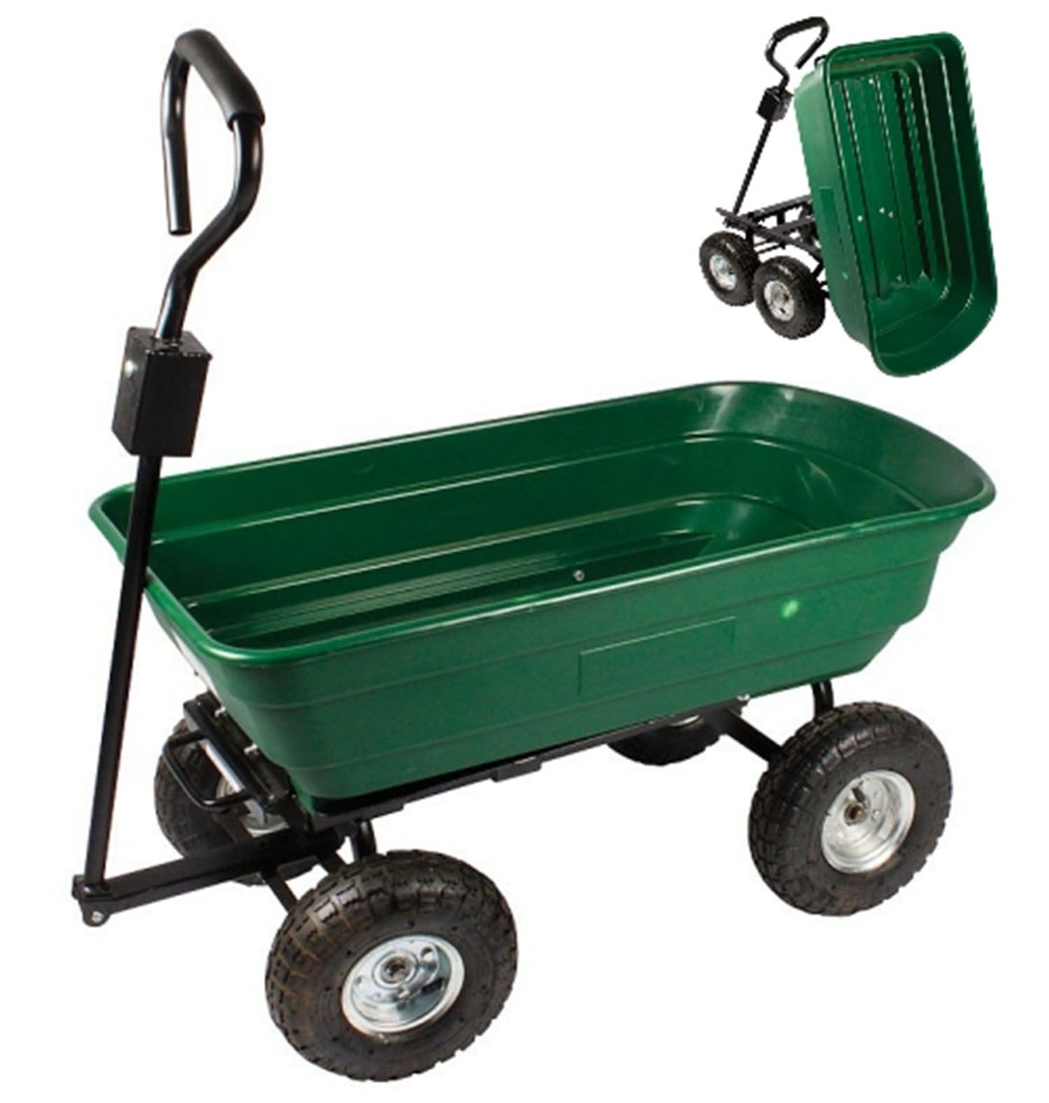 Garden Utility Cart With Wheels : New garden heavy duty utility wheel trolley cart dump