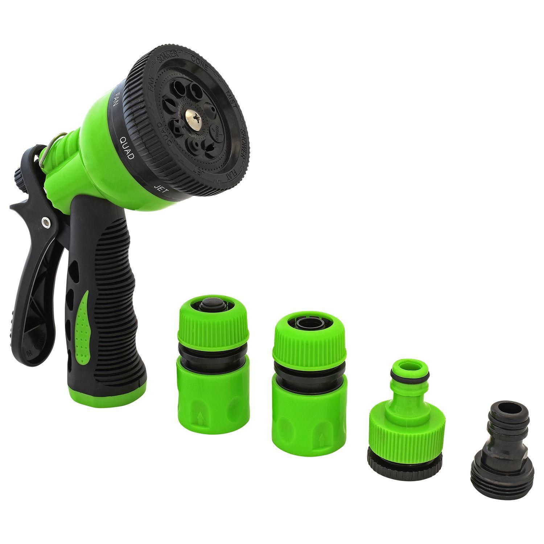 garden water tap hose connector shut off adaptor spray gun hose