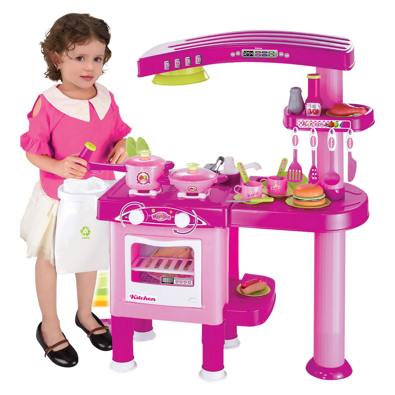Cooking Toys For Boys : Boys girls childrens kids kitchen play set pretend toy