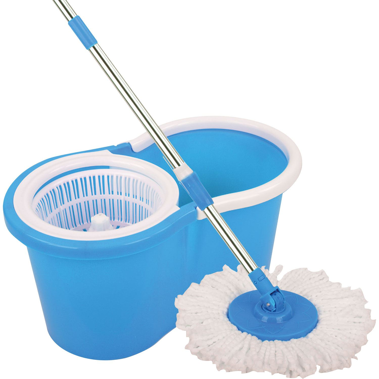 Magic Spin Mop Microfiber Spining W Bucket 2 Heads 360