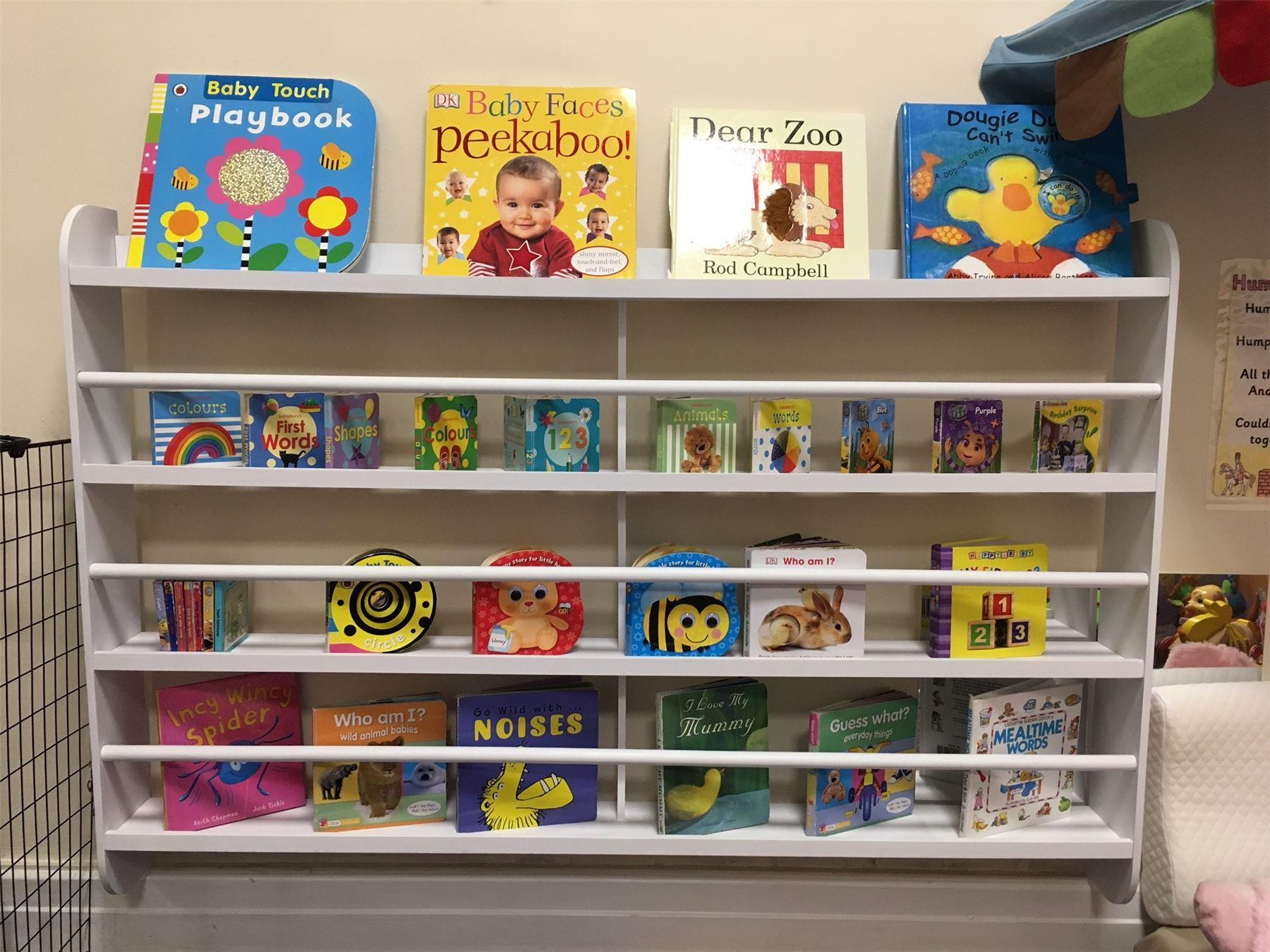 Wall Bookshelf Bookcase Kids Children Books Shelf Storage