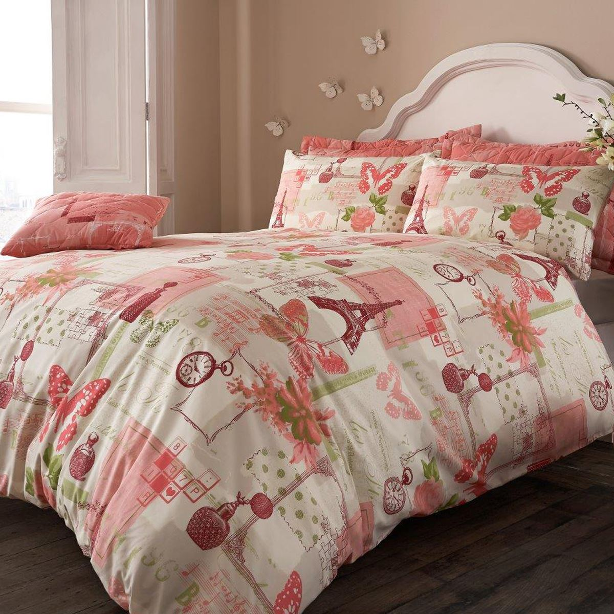 Beautiful printed duvet quilt cover pillowcase bedding for Beautiful bedspreads