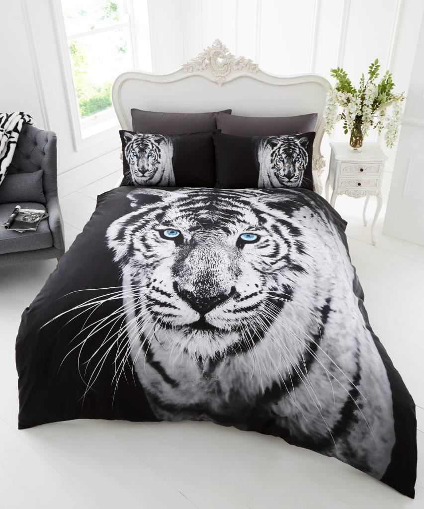 3d effect modern animal prints duvet cover with pillowcase quilt cover bed set ebay. Black Bedroom Furniture Sets. Home Design Ideas