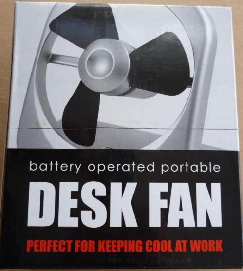 Battery Operated Desk Fan : Battery operated portable desk fan home office camping