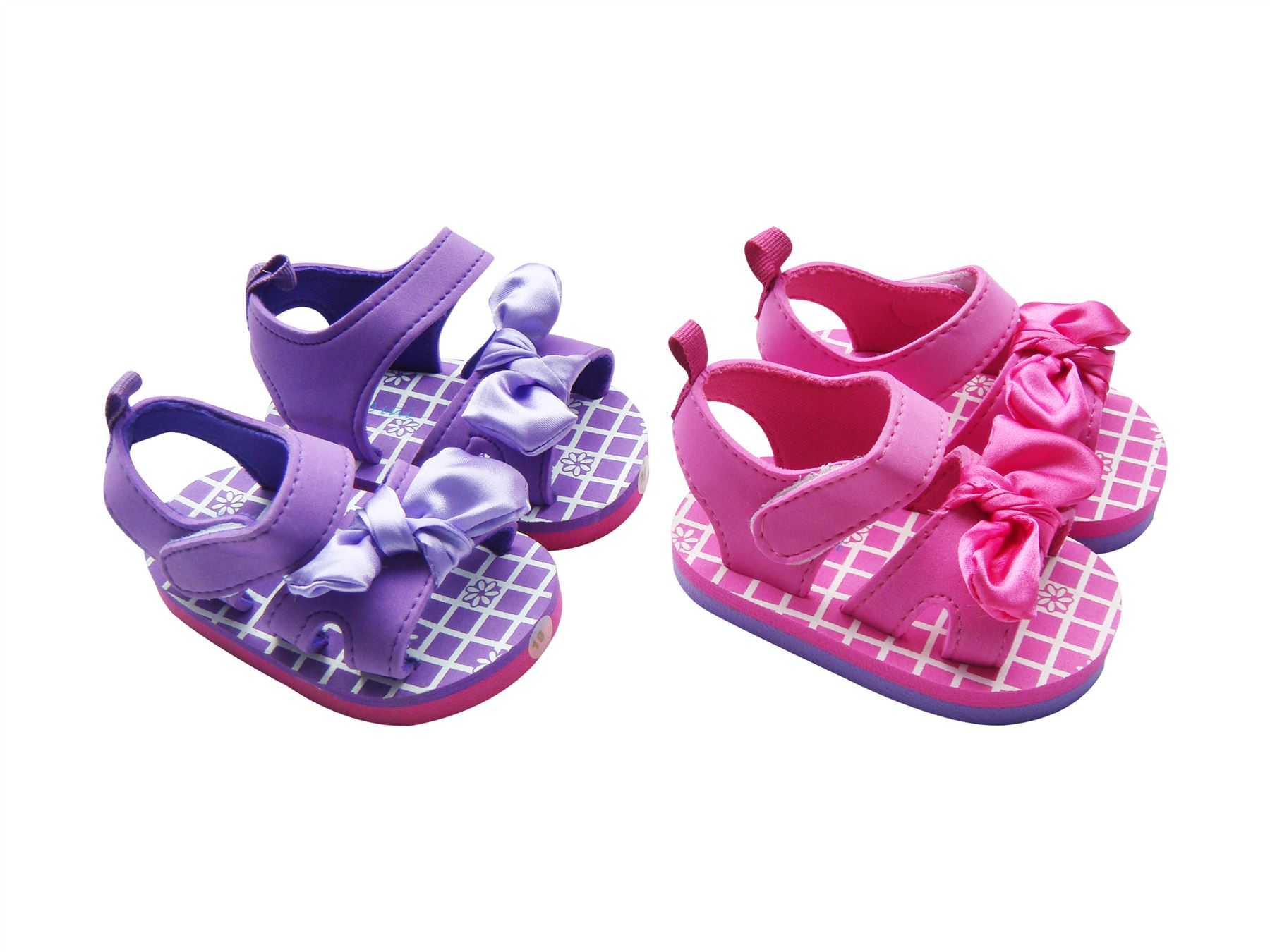 Mabini Baby Girls Pink Or Purple Summer Eva Sandals With
