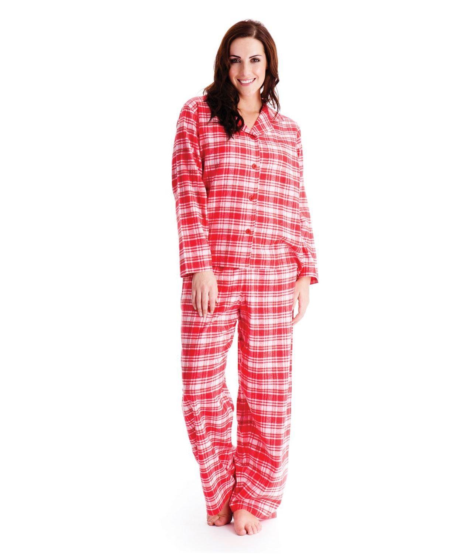 Octave pyjama classique en flanelle carreaux coton for Pyjama carreaux