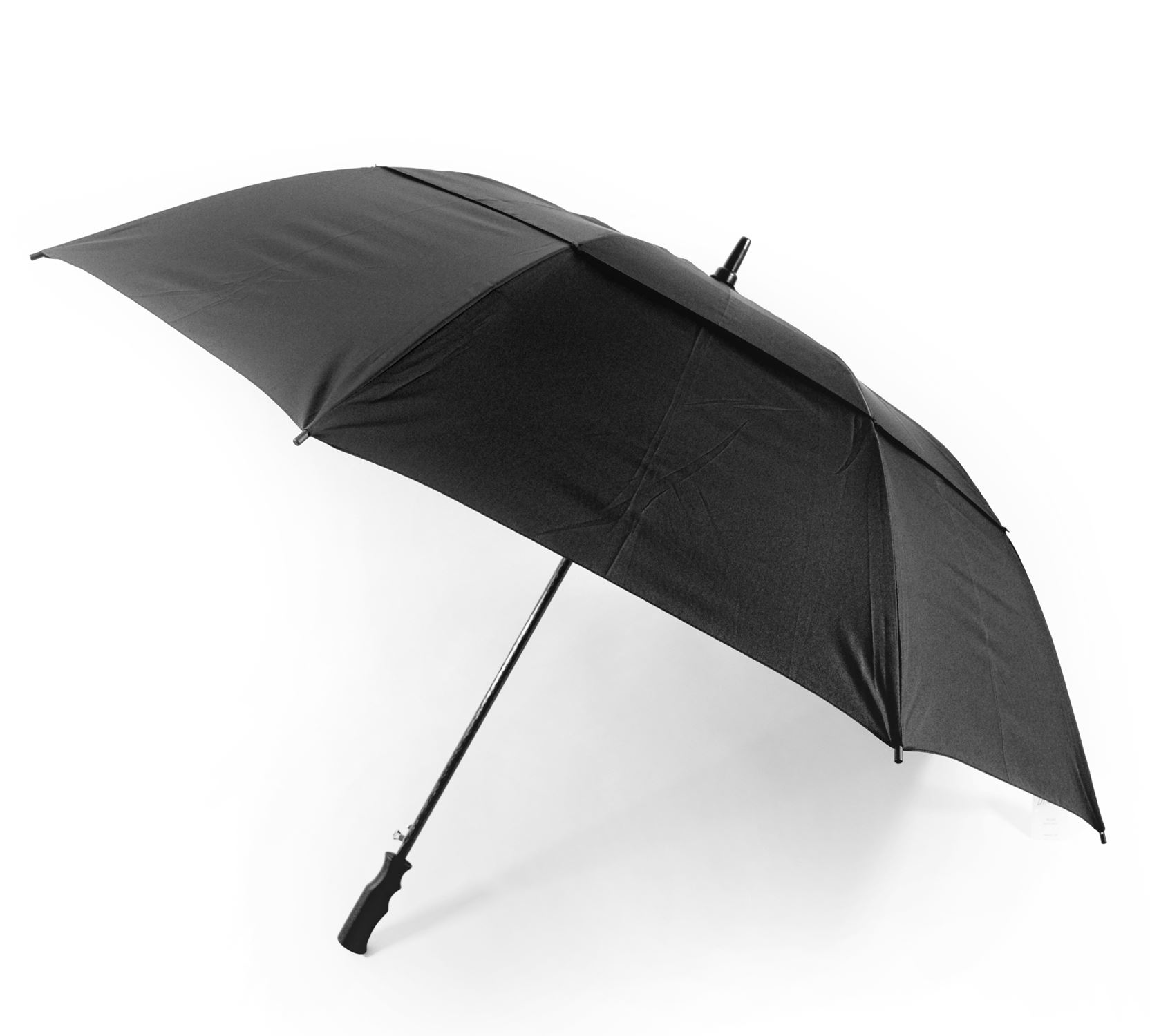 Octave unisex wind resistant double canopy black golf for Wind resistant material
