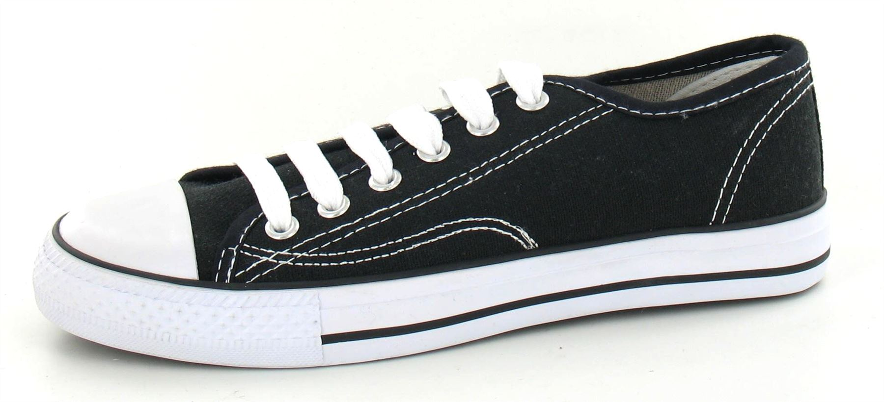 octave 174 mens retro vintage black lace up canvas shoes with