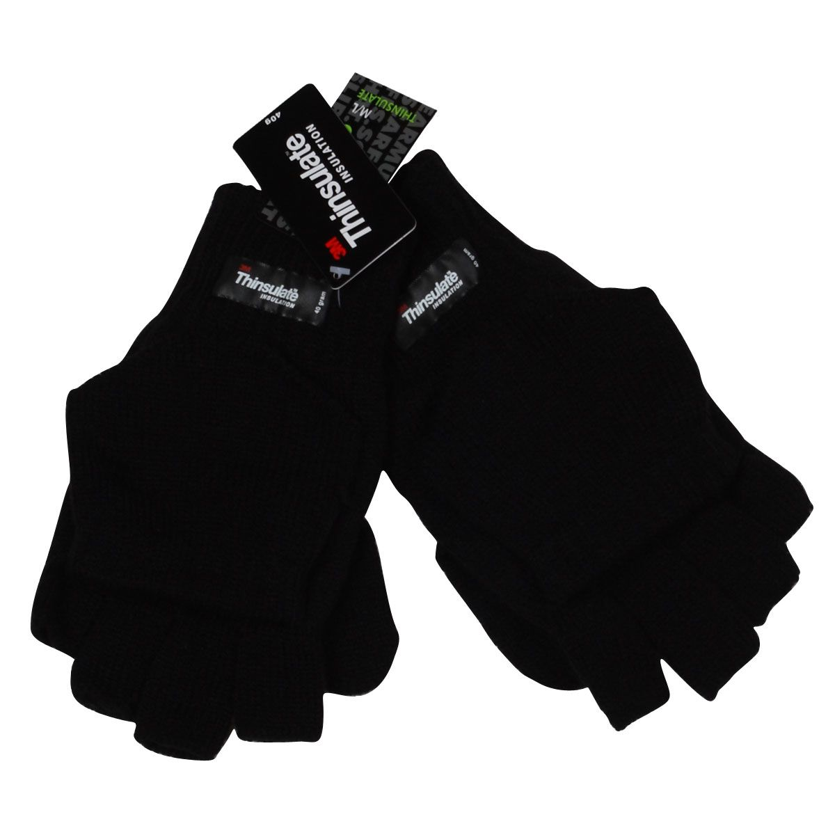 Fingerless gloves thinsulate - Image Is Loading Octave Mens Black Warm Thinsulate Fingerless Gloves With