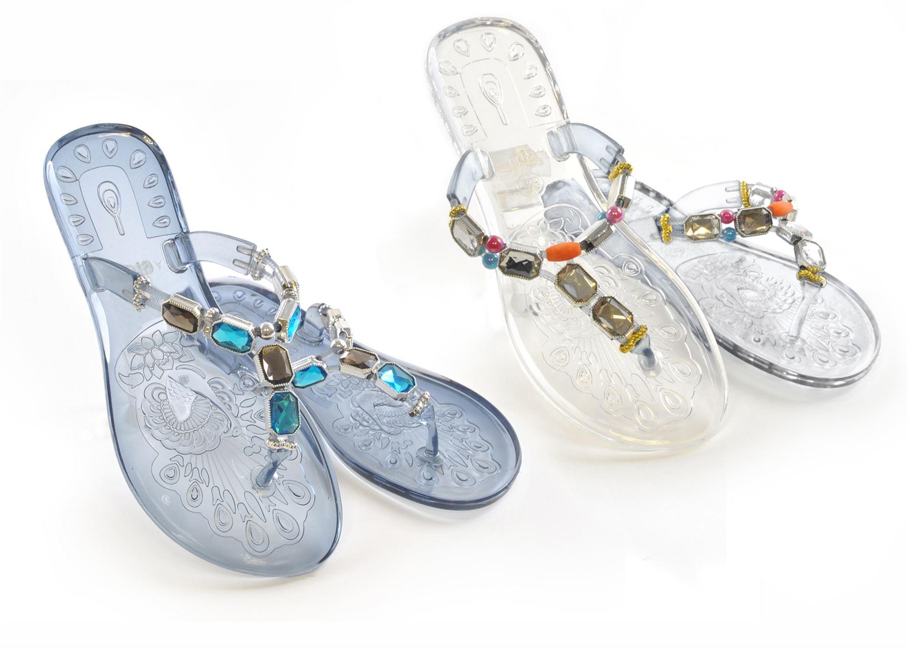 octave damen zehentrenner sandalen aus gel mit. Black Bedroom Furniture Sets. Home Design Ideas