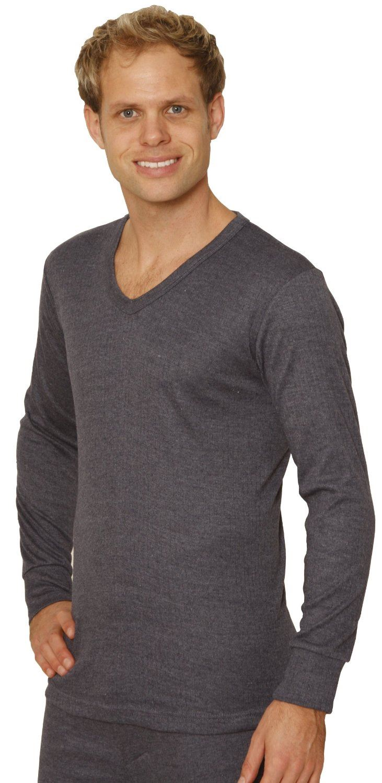 Octave mens thermal underwear long sleeve 39 v 39 neck t for Long sleeve v neck t shirt mens