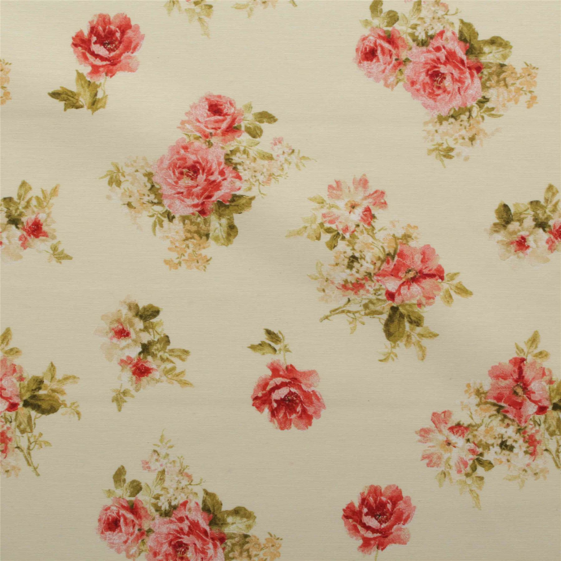 vintage chintz shabby roses print retro 100 cotton. Black Bedroom Furniture Sets. Home Design Ideas