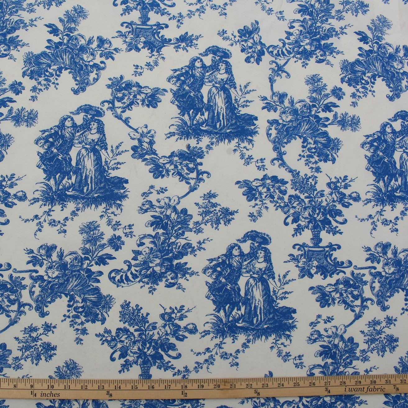 toile de jouy french scene print cotton satin muslin curtain upholstery fabric ebay. Black Bedroom Furniture Sets. Home Design Ideas