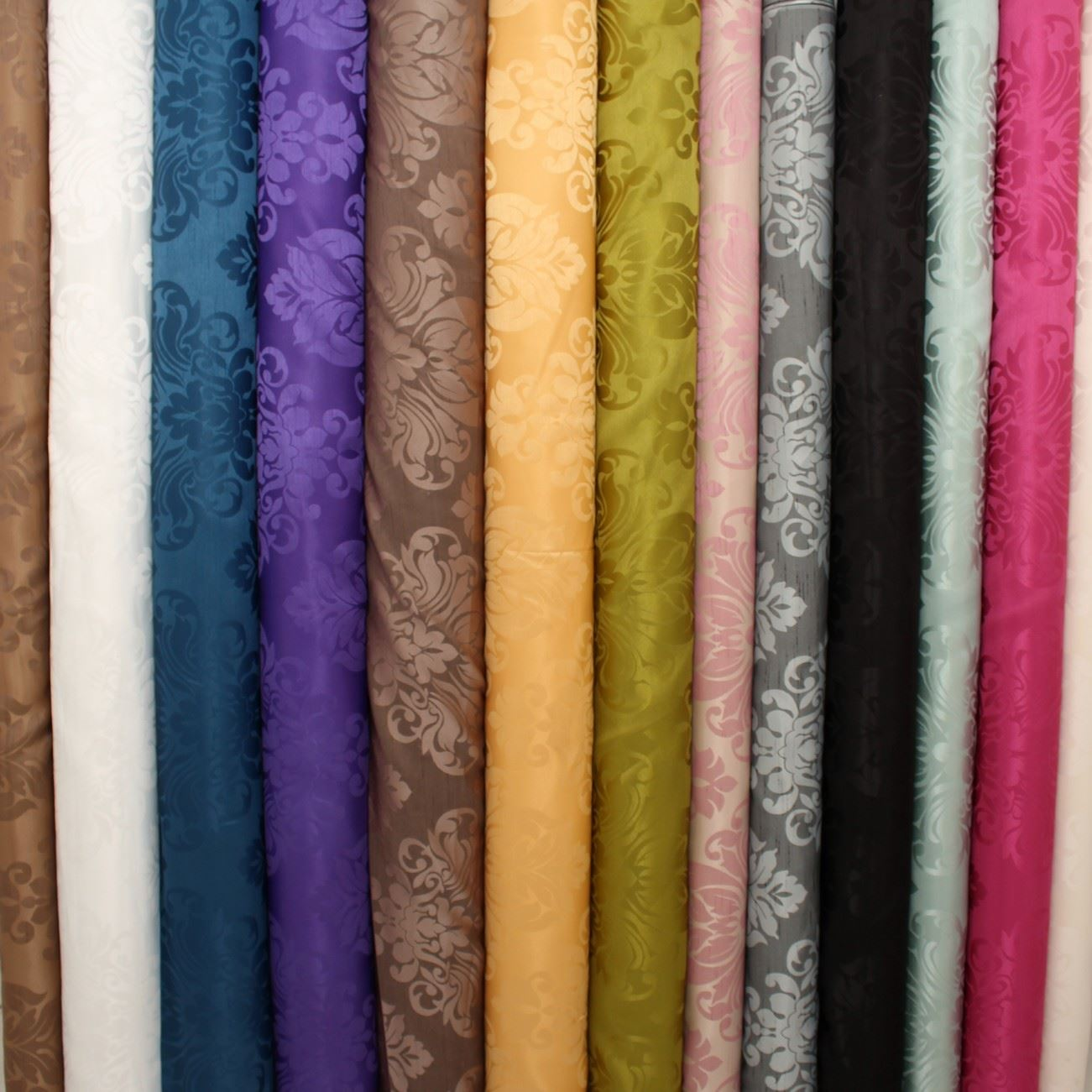 thumbnail 42 - FLORAL DAMASK FAUX SILK JACQUARD CURTAIN UPHOLSTERY FABRIC MATERIAL 12 COLOURS