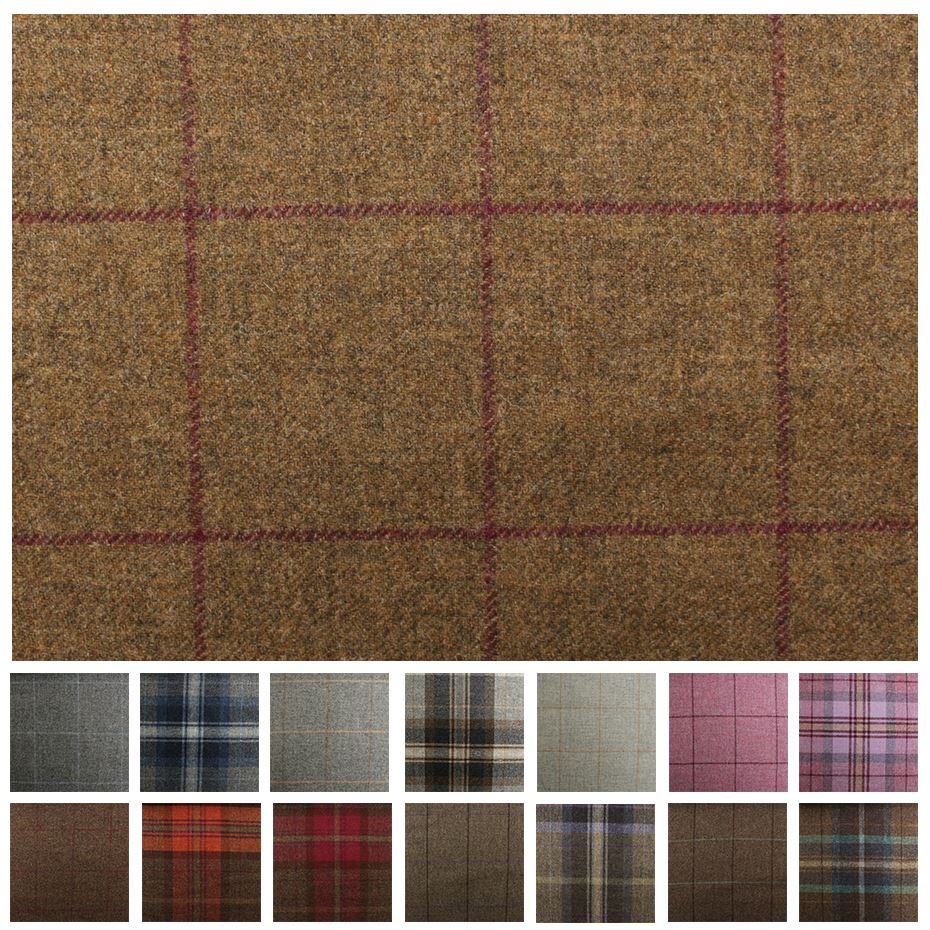 100 British Shetland Wool Fabric Marchrie Window Pane