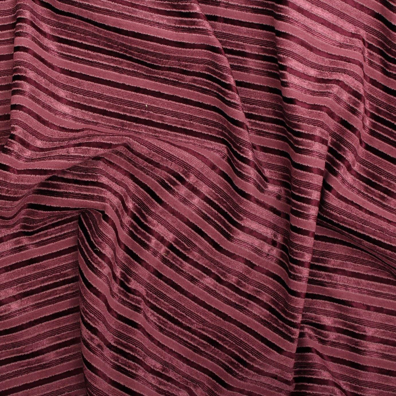 Velvet Chenille Fabric Sofa: SUMMER BERRY VELVET CHENILLE STRIPE SOFA CURTAIN CUSHION
