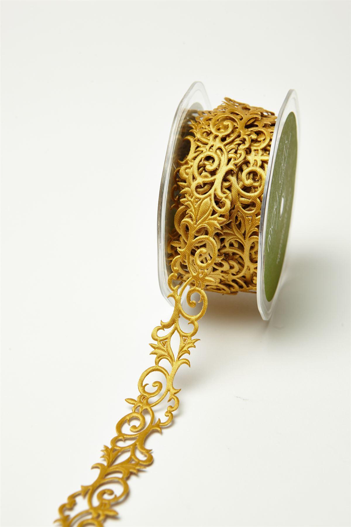 "Adhesive Fleur de lis Scroll Gift Wrap Décor Tape Craft Ribbon 7/8"" Width"