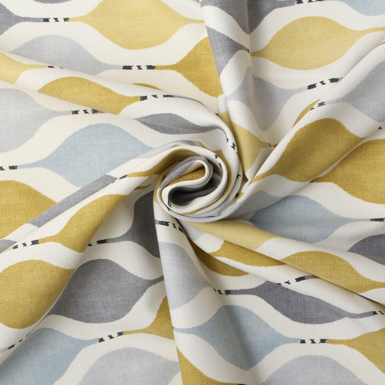 Hour Glass Retro Cotton Panama Print Curtain Blinds Cushion Upholstery Fabric