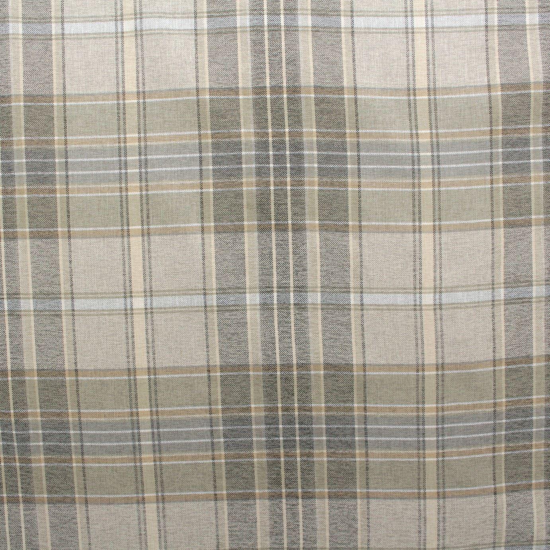 designer discount linen look tartan check plaid curtain. Black Bedroom Furniture Sets. Home Design Ideas