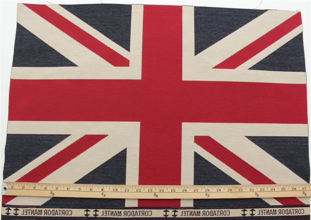 Union Jack Flag Retro Heavy Linen Look Upholstery Cotton