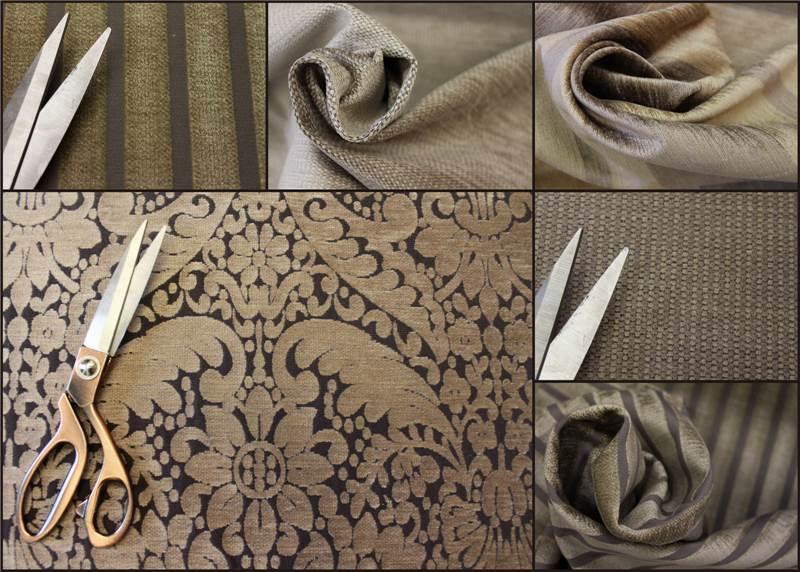 Tessuto tappezzeria a righe tinta unita in velluto firmato for Tappezzeria a righe