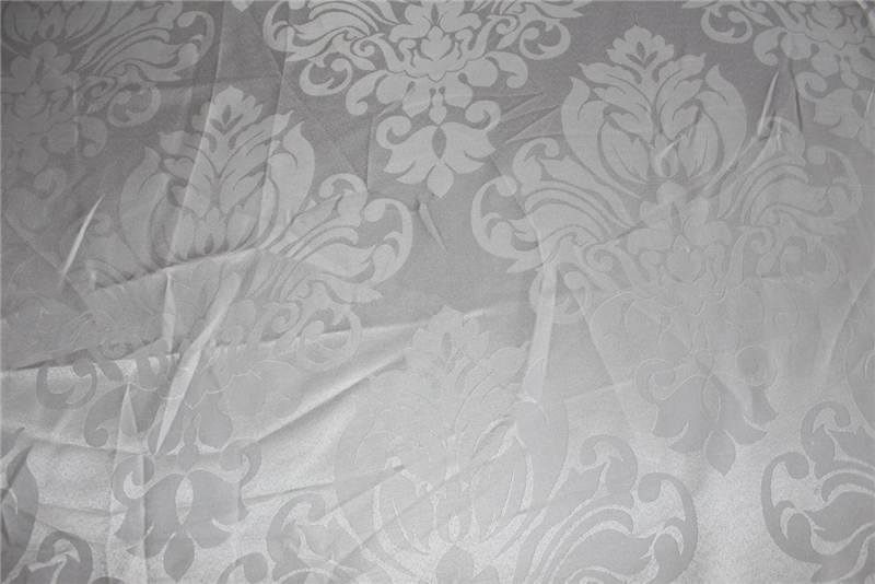 thumbnail 44 - FLORAL DAMASK FAUX SILK JACQUARD CURTAIN UPHOLSTERY FABRIC MATERIAL 12 COLOURS