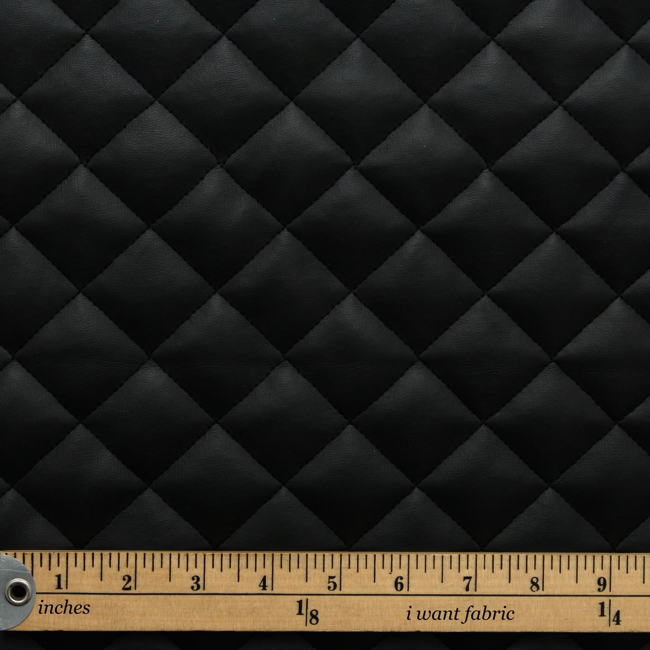 Quilted leather faux leather diamond padded cushion for Fake leather upholstery