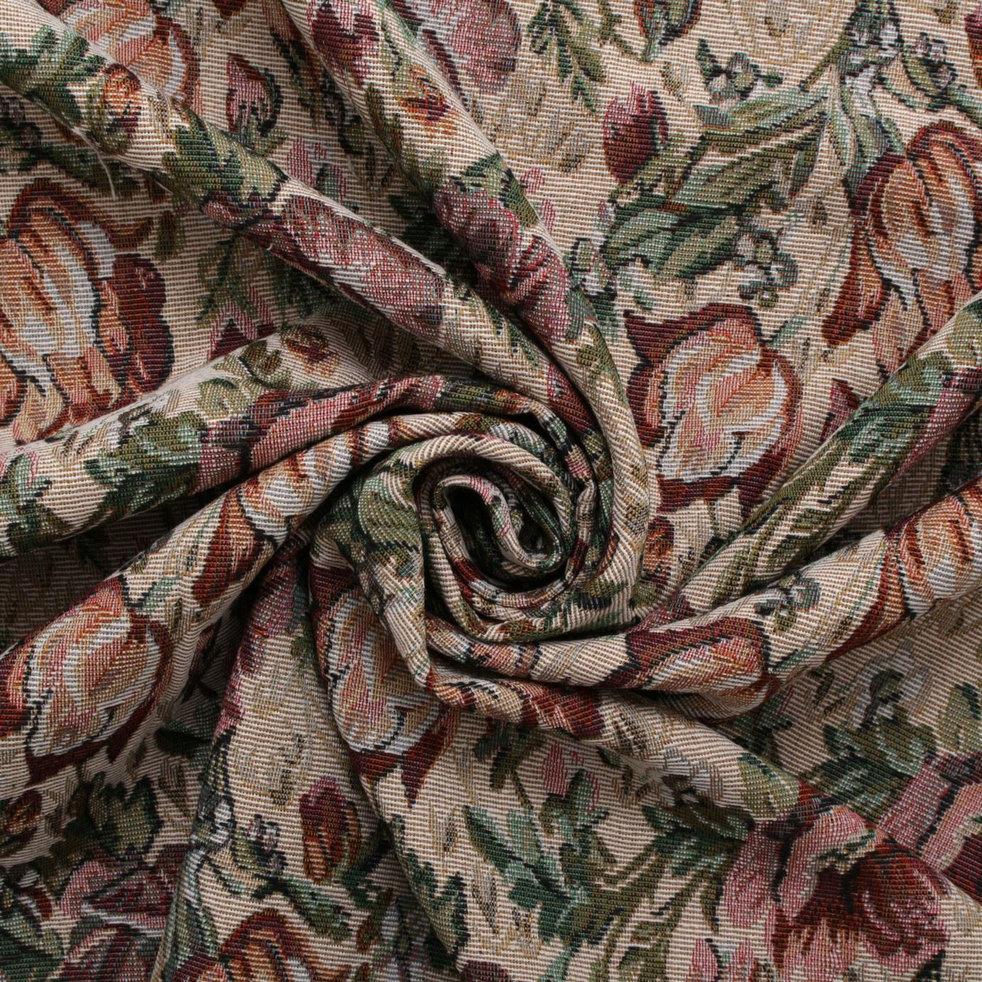 English Traditional Vintage Floral Garden Tapestry Furnishing Upholstery Fabric