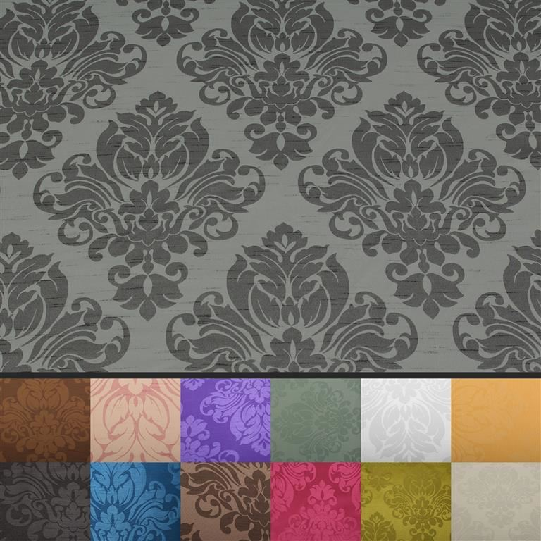thumbnail 47 - FLORAL DAMASK FAUX SILK JACQUARD CURTAIN UPHOLSTERY FABRIC MATERIAL 12 COLOURS