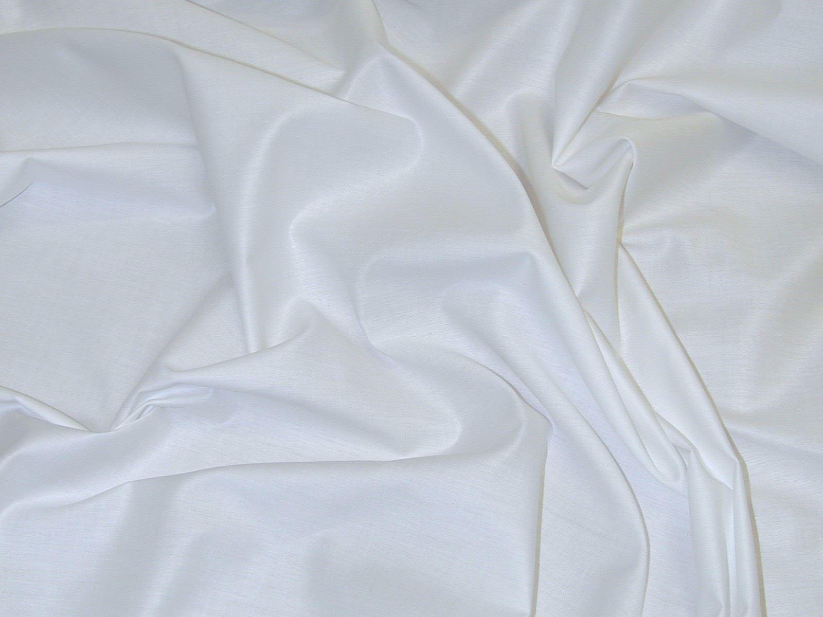 tissus pour rideau drap satin de coton blanc top qualit. Black Bedroom Furniture Sets. Home Design Ideas