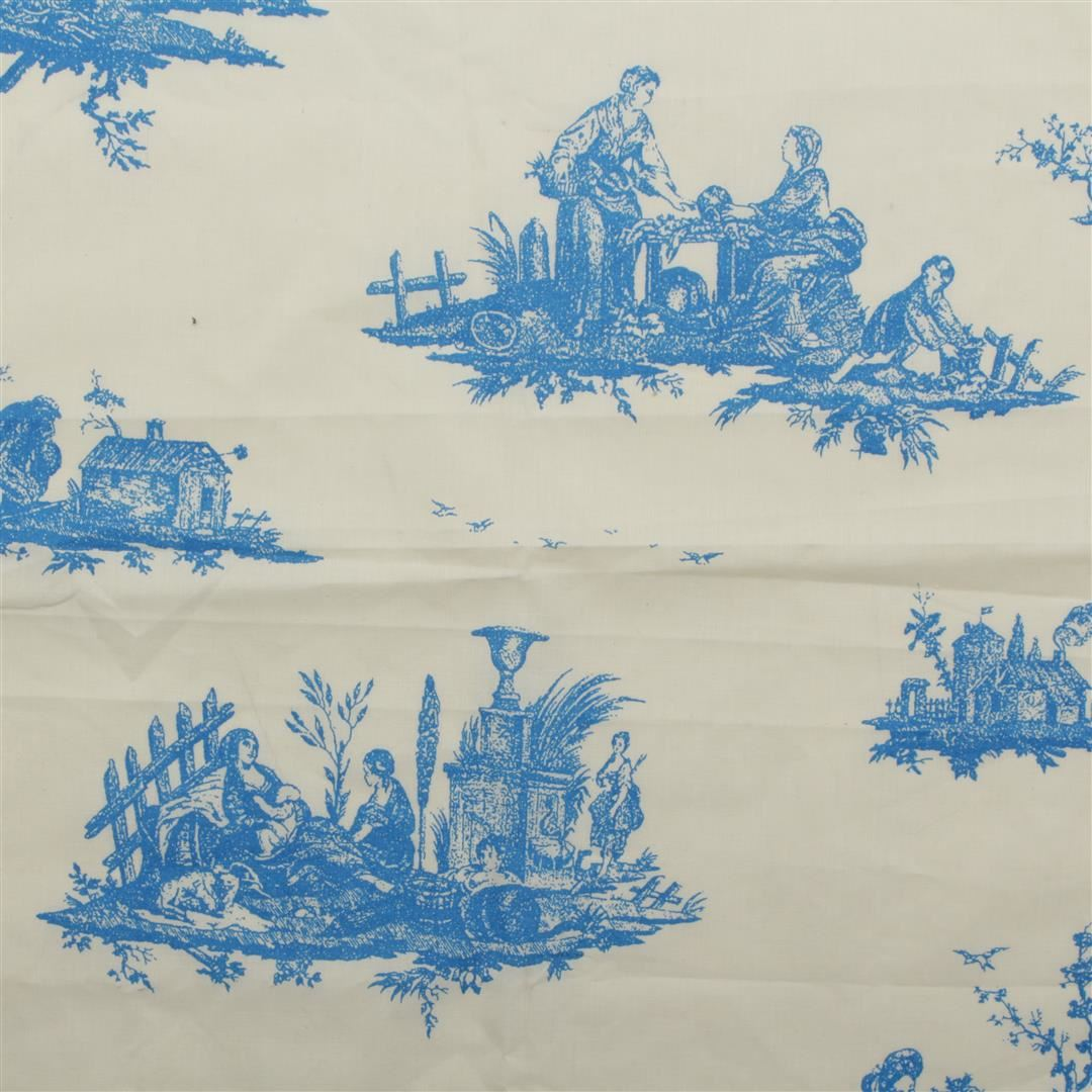 100 cotton toile de jouy linen muslin canvas french scene print cloth fabric - Toile de jouy au metre ...