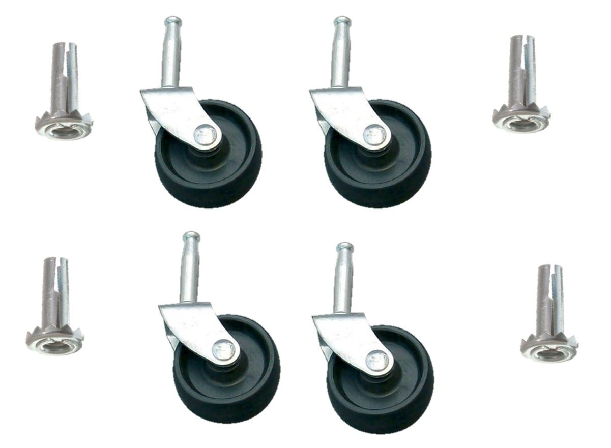 EASY-FIX-BLACK-PLASTIC-METAL-CASTORS-SOCKETS-BED-SOFA-OFFICE-CHAIR-WHEELS