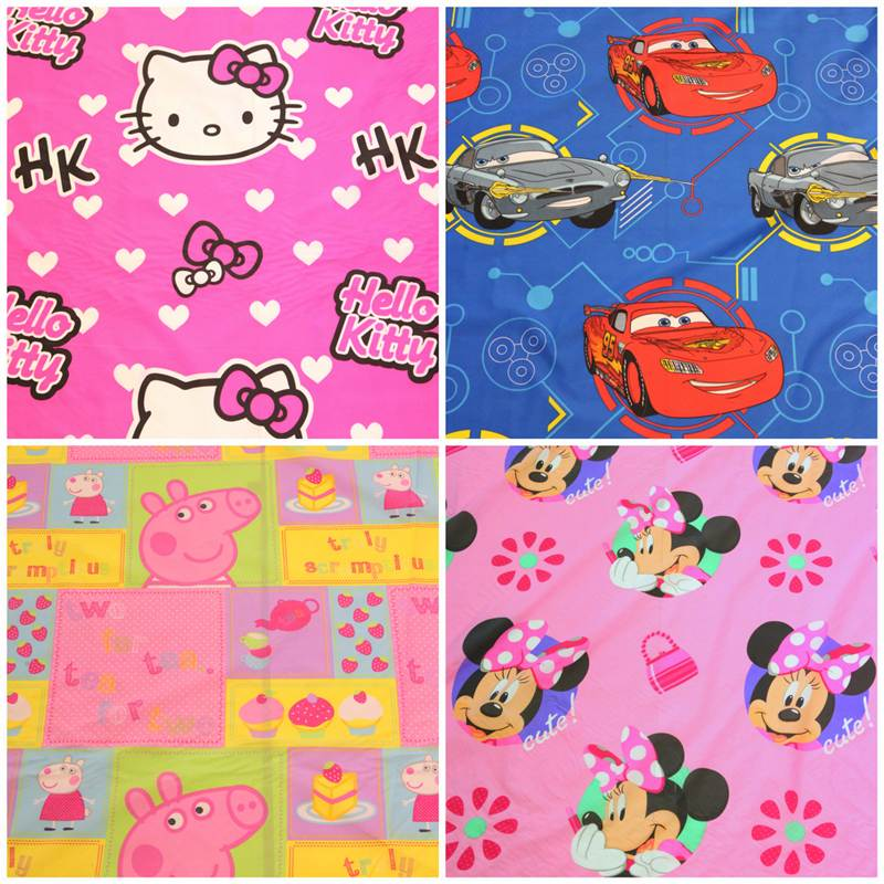 childrens kids branded cartoon character curtain cushion ForKids Character Fabric
