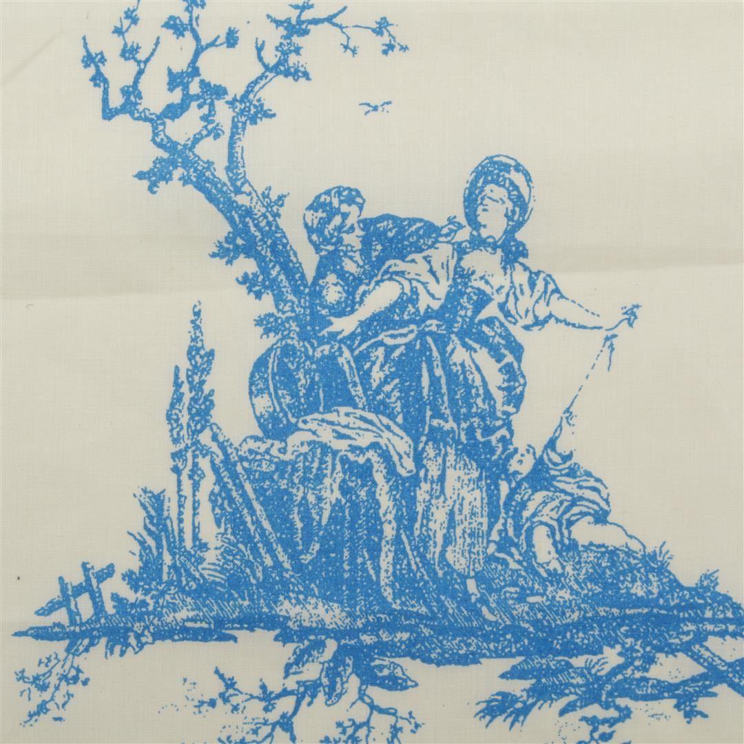 100 cotton toile de jouy linen muslin canvas french scene. Black Bedroom Furniture Sets. Home Design Ideas