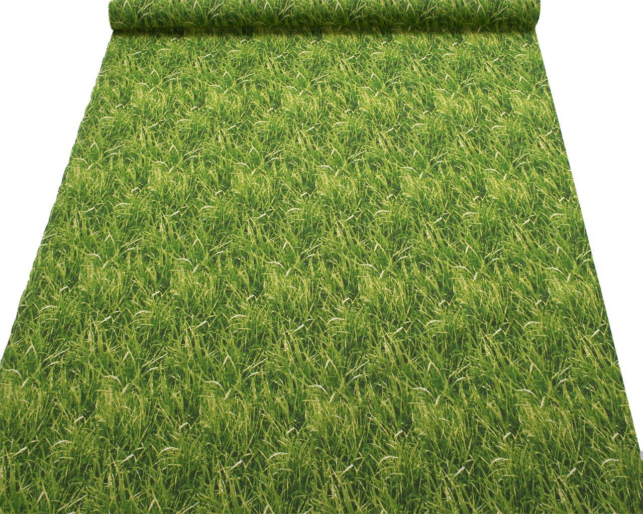 bedruckte baumwolle green grass garten basteln polster stoff ebay. Black Bedroom Furniture Sets. Home Design Ideas