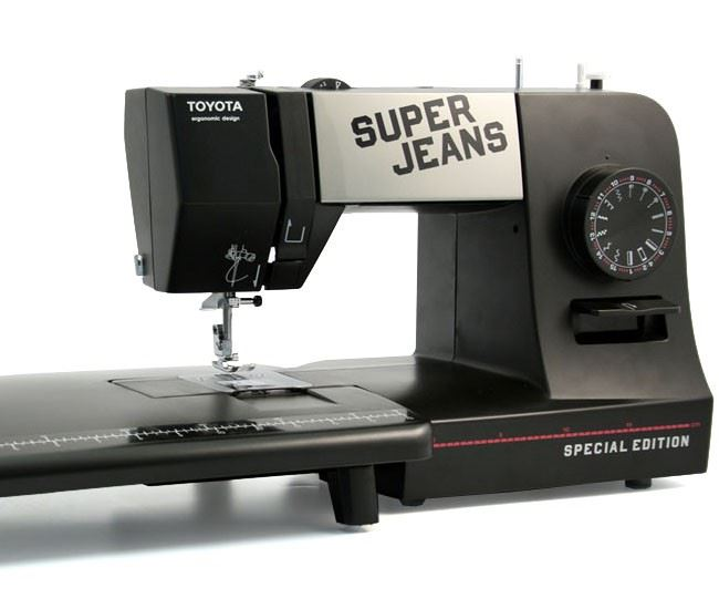 special edition toyota super jeans sewing machine super j15 pe extension table. Black Bedroom Furniture Sets. Home Design Ideas