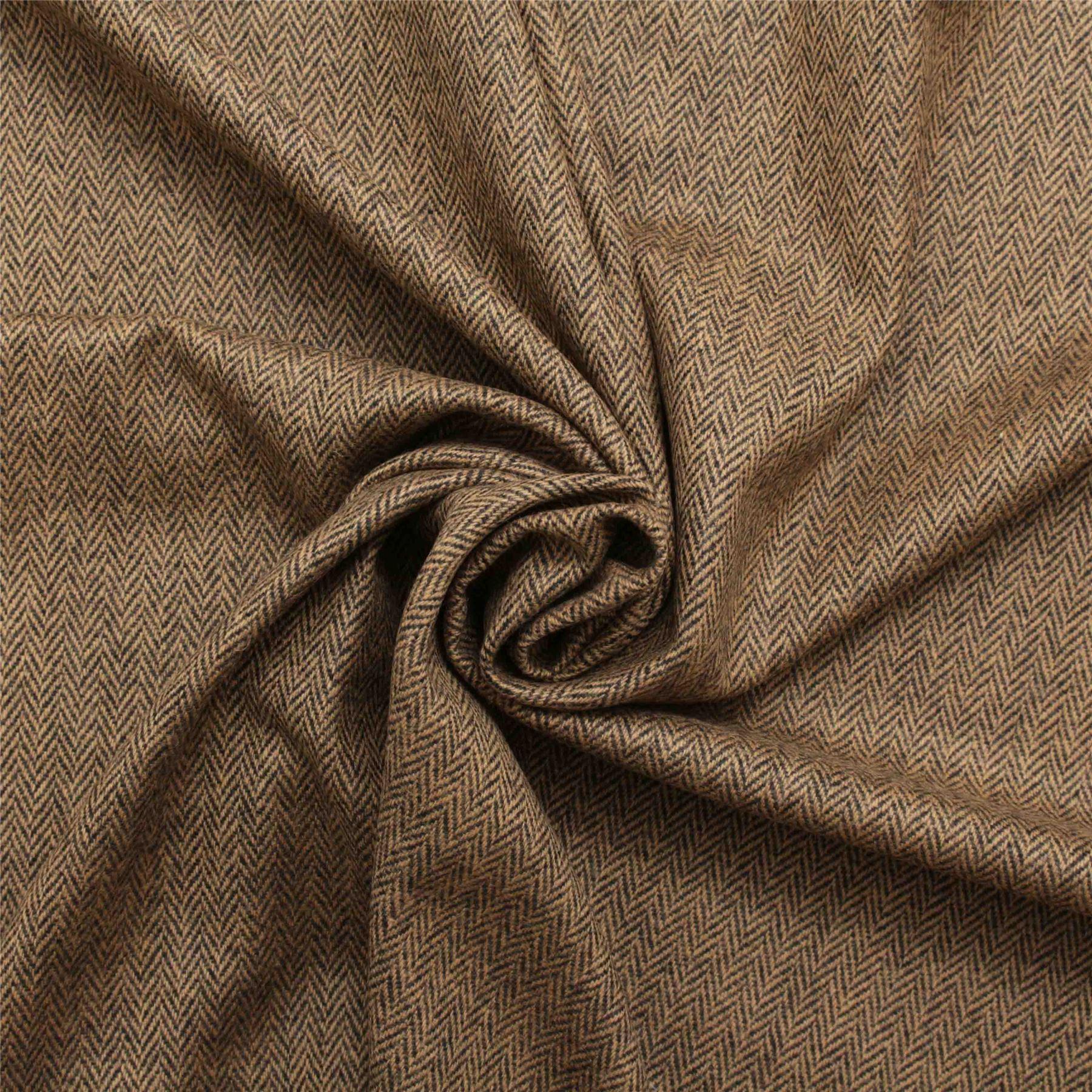 Designer Discount 100% Wool Upholstery Curtain Cushion Tweed Plaid ...