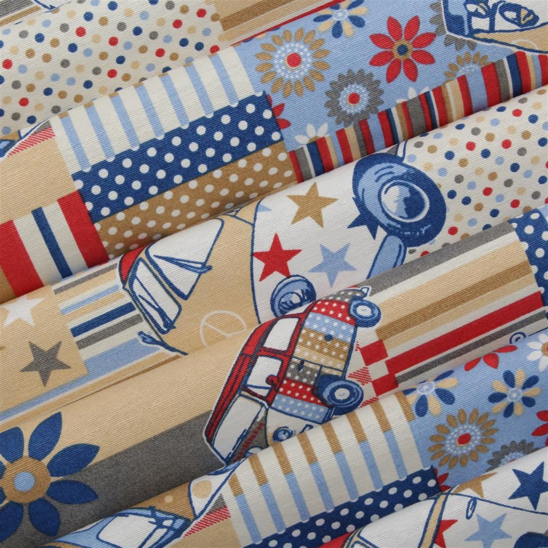 canvas vw cnd patchwork campervan upholstery curtain cushion fabric