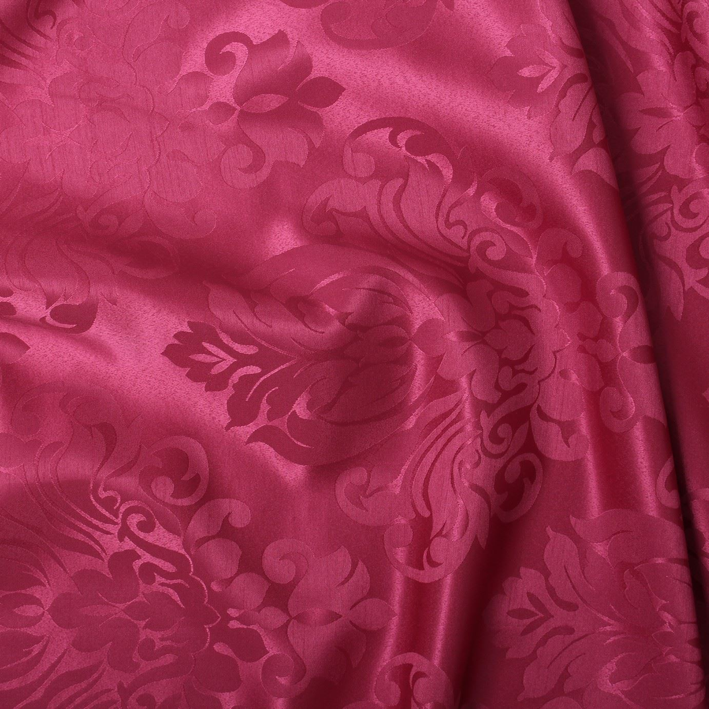 thumbnail 30 - FLORAL DAMASK FAUX SILK JACQUARD CURTAIN UPHOLSTERY FABRIC MATERIAL 12 COLOURS