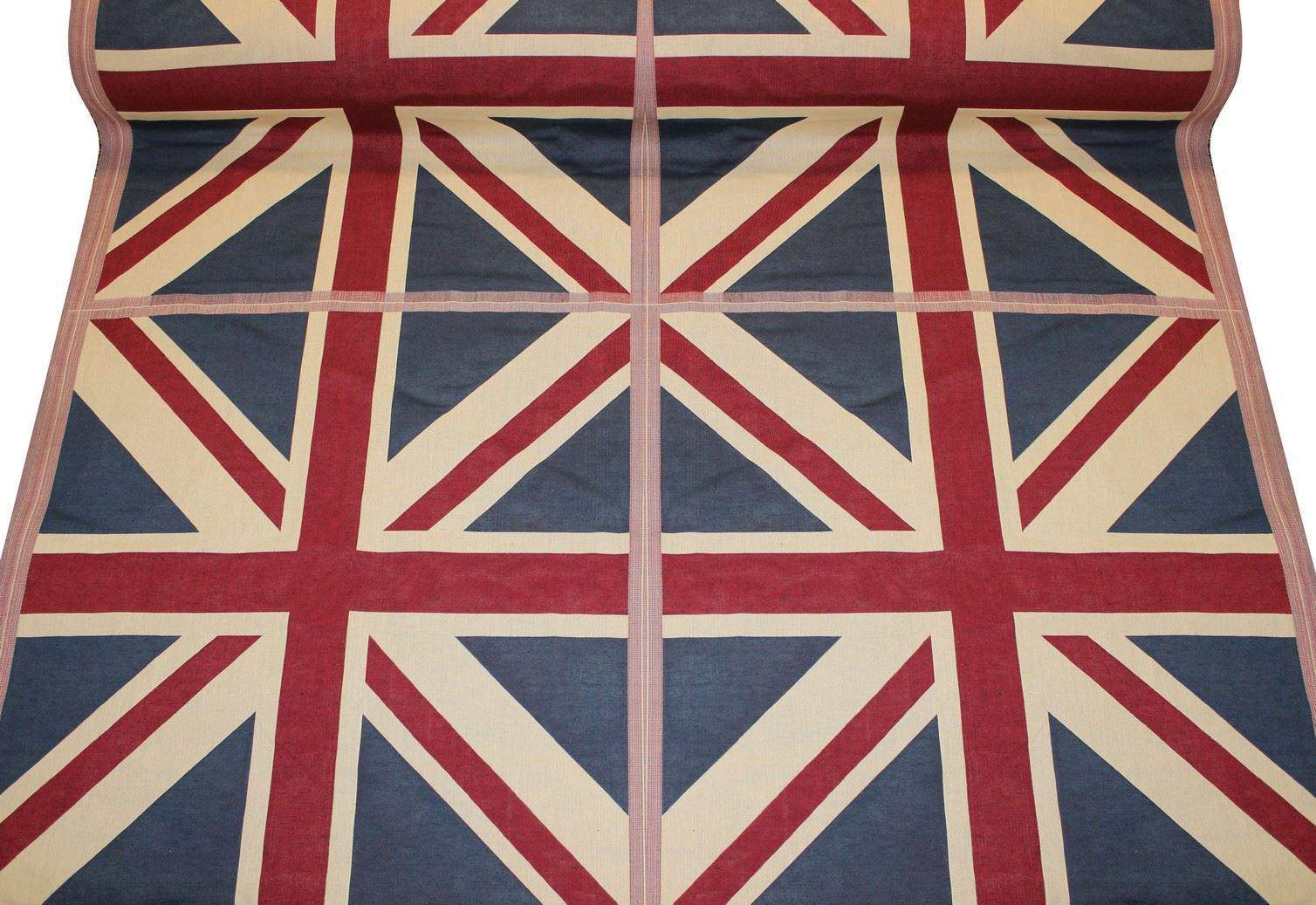 Designer Union Jack Flag Vintage Shabby British Cushion Panel